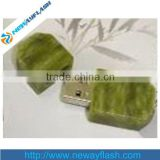 Hot green stone USB 2.0 512gb flash drive