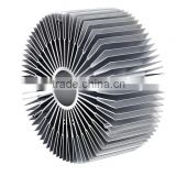 Competitive price high grade extruded sunflower round aluminum heatsink with diffuser fins