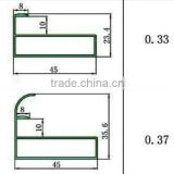 Competitive price extruded aluminum profile for kitchen cabinet (kitchen cabinet aluminium profile, aluminum section)