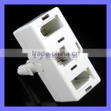 UK Telephone BT Plug to RJ11 BT Jack Adapter and Splitter for Landline Telephone