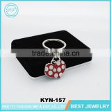 Beautiful Attractive Heart Shaped Couple Keychain Cute Key Ring