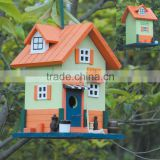 personality wooden Bird house with factory price ,bird cage ,outdoor bird feeder kids lovely