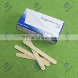 wooden medical tongue depressor