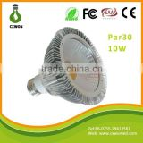 Spot lamp par30 led 10w 85-265v E27/E26/B22 10w 30000hrs 2700-7000k COB led par lamps commercial led par light