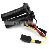 "Black 7/8"" motos Motorcycle handlebar Electric Hot Heated Grips Handle Handlebar Warmer manillar motocicleta"