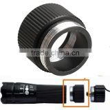 Black Extension Flashlight Tube Joint Adapter Flashlight Extender for Flashlight 18650