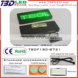 sales promotion led card screen/mini led display/Factory supply LOGO printed LED name badge