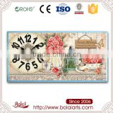 Red roses printing Bold arabic numeral branding wall clocks