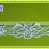 Beaded embroidery lace trim T010B
