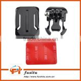 Helmet Curved Surface & Buckle Basic Mount & 3M VHB Adhesive Sticker For Gopro Hero 4 3+ 3 2 1