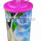 Newly 3D Customized Lenticular With Lid And Straw 22oz Plastic Cup                                                                         Quality Choice
