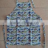 cotton apron for kitchen with printing in baby head pattern