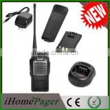 Wireless hands free long range digital walkie talkie