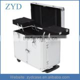 Wholesale Professional Aluminum Makeup Trolley Clipper Trimmer Barber Tool Box ZYD-HZMhairc003