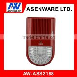 bus-type fire fighting addressble red flashing light siren