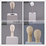 fabric faceless shoulder mannequin heads with hair