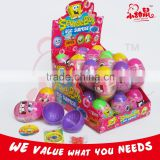 Popular Toy Candy Surprise Plastic Egg With Toy And Candy