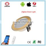 Zigbee SmartRoom Multifunctional downlight 16 million colors changening RGB aluminium downlight