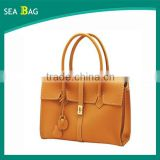 2016 latest fashion Elegant luxury Style women Genuine Leather bag ladies fancy tote handbag