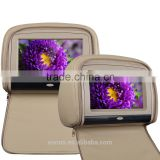 "EONON L0283 9"" HD Touch Screen Car Headrest Monitor with Built in DVD (Tan Color)"