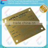 Engraved Metal business card , Die cutting brass plate
