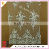 HC-6092-1 Hechun Guangzzhou Wholesale Full Pearl Bangkok Bridal Lace Fabric Sequin