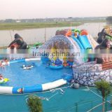 INQUIRY ABOUT Hot sale giant orangutan pool games park equipment, inflatable water park amusement