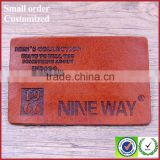 real jeans leather labels for sale customized any color jeans leather patch manufacturer