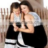 2015 mom love me mother and child dress black and white lace mother and child maxi dress