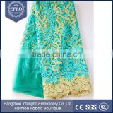 2016 latest nigerian french lace green aso ebi bridal dress tulle embroidery lace wholesale cheap stone work african fabric lace