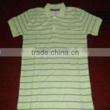 Cotton Yarn Dyed Short Sleeve Men's Polo Shirt