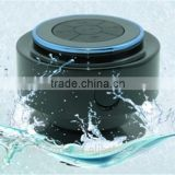 Double magnet waterproof bluetooth shower speaker with am fm radio
