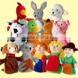 Cartoon Character Hand Puppet / Soft Plush hand puppet / Plush Animal Hand Puppet Toy
