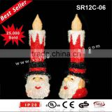 3D sparkling sisal christmas candle light Christmas Decoration (Outdoor MOQ: 200PCS, GS/CE/UL)
