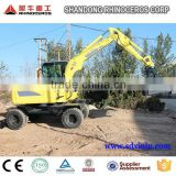 hand digging machine 6ton wheel excavator excavator bucket volume