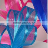 wholesale sheer organza ribbon body with satin edges and Made of polyester satin thread celebrate it ribbon