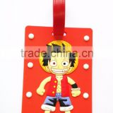 Wholesale Character Print Soft Rubber Travel Bag Tags PVC High-quality Shaped Luggage Tag