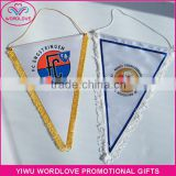 wholesale polyester printed blank pennant flag,custom fringe blank pennant flag,blank football club exchange flag