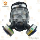 Spherical Anti Toxic Full Face Gas Mask with single/double connector with anti fog lens -Ayonsafety