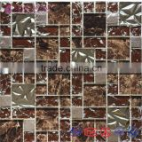 2015 New Metal Mixed Glass Tiles for Hotel Projects/Bar Decoration/Wall Tiles/TV Wall
