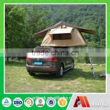 1-2 persons aluminium folding canvas car top tent hard shell rooftop tent