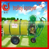 350L triplex plunger pump trolley liquid fertilizer sprayer