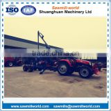 Hot sale CE approved log trailer with crane/timber loading machine from shandong