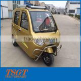 three wheeler with electric power/battery power for passenger taxi and car use with closed cabin