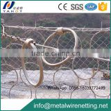 Zn-Al Alloy coated stainless steel wire rope mesh net machine with a secondary wire mesh