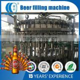 Glass Bottle Beer Filling Machine/zhangjiagang beer bottling /beer washing filling and capping unit/beer filling monoblock unit
