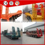 Heavy Duty Truck Howo 30 ton Low Flatbed Semi Trailer Low Bed Truck Trailer Trucks And Trailers