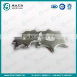 solid tungsten carbide pavement scarifier blades with 6pcs carbide teeth for Scarifier cutter