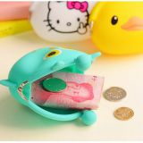 Party Colorful Silicone Lady Purse Wallet