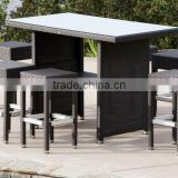 2017 Trade Assurance Most Popular aluminium rattan handmade outdoor modern dining pool table set furniture